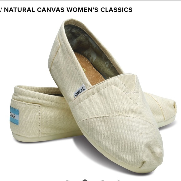Toms Shoes - Toms Woman's Natural Canvas Classic Shoes NWT
